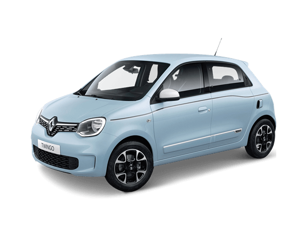 Elektrische blauwe Renault Twingo